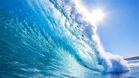 wallpaper biru kristal kristal gelombang biru hd wallpaper desktop layar lebar
