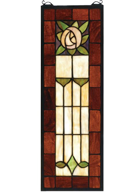 craftsman stained glass meyda 67791 pasadena stained glass window