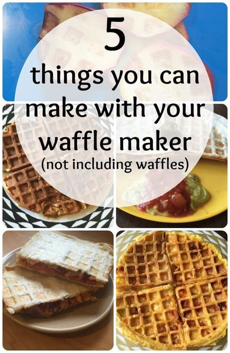 five things you can make using a wafflemaker and none of
