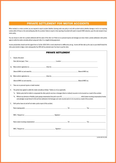 Car Settlement Agreement Letter Template 8 How Much To Expect From Car Settlement Marital Settlements Information