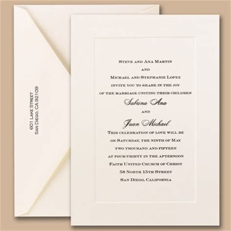 classical wedding invitations the do s and don ts of wedding invitations
