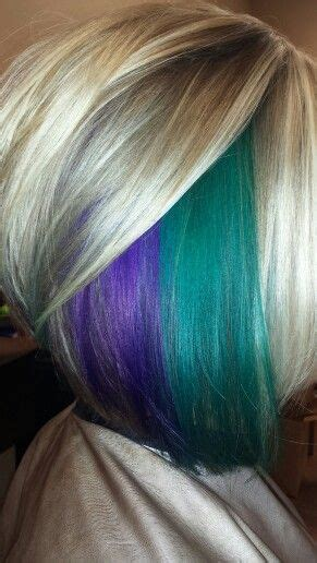 hairstyles with teal highlights loving the purple and teal hair color even the cool