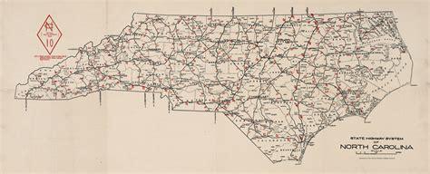 road map carolina carolina state highway system 1922