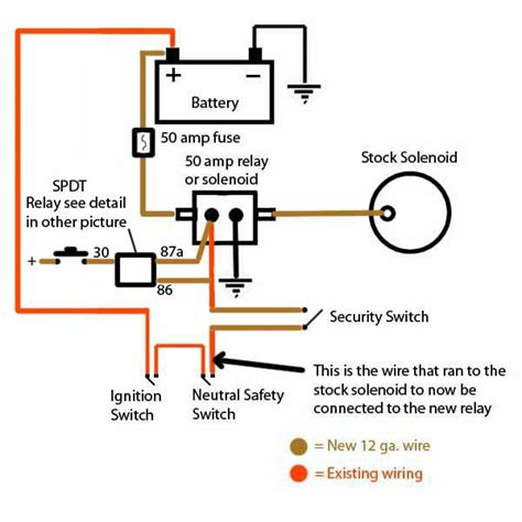 starter switch wiring diagram 12v starter switch wiring