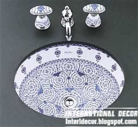 patterned bathroom sinks italian round sinks with stylish faucets for modern bathroom 2013