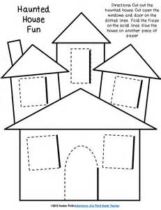 cut out building templates haunted house lift the flap template prek