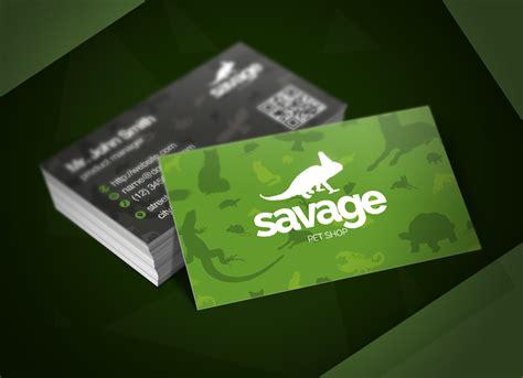 savage pet shop business card business card templates  creative market