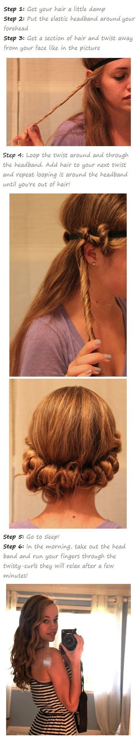 easy hairstyles for medium hair no heat 25 best ideas about overnight braids on pinterest