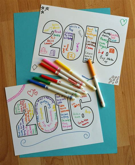 new year activity ideas new year word printable for make and takes