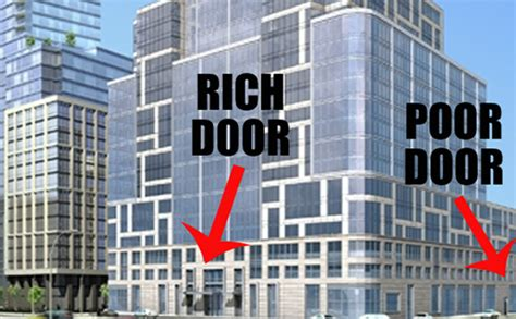 controversial nyc building has two doors of entrance one