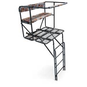 Guide gear 17 1 2 foot 2 man double rail ladder stand