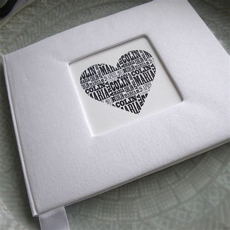 personalised wedding guest book  letterfest