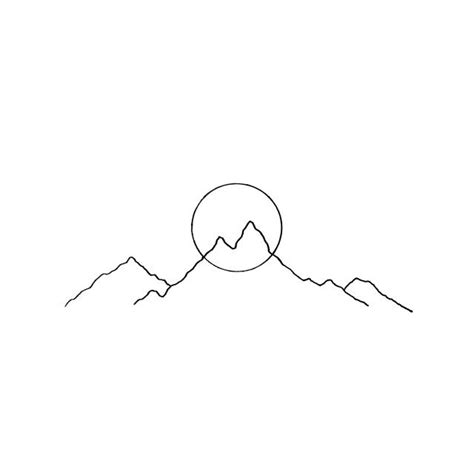mountain outline tattoo best 25 simple mountain ideas on