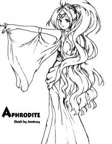 aphrodite colors gods and goddesses coloring pages related to