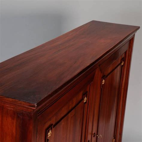 Shallow Cabinet With Doors 19th Century Italian Walnut Two Door Shallow Wall Cabinet For Sale At 1stdibs