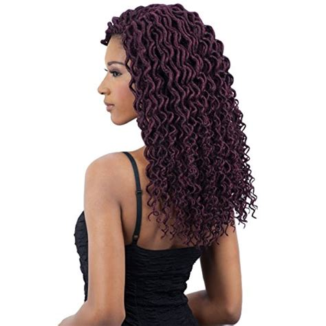 buy synthetic braided hair online freetress 2x soft curly lite faux loc crochet synthetic