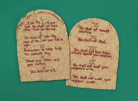 ten commandments for crafts ten commandments tablets craft crayola