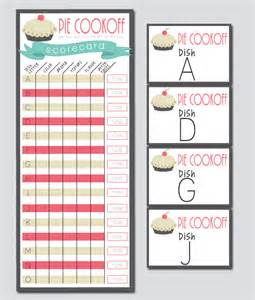 Chili Cook Template by Chili Cookoff Score Sheet Printable Thinkrsvp