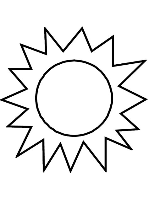sun template clipart best