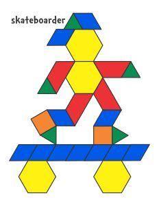 pattern block house template jessica s pattern block mats printables plusieurs