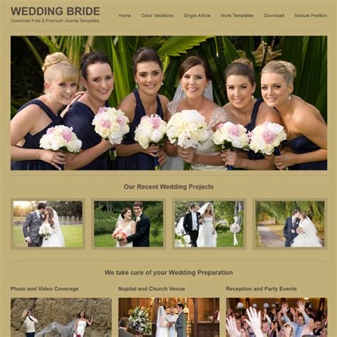 free wedding bride joomla template by joomlasaver