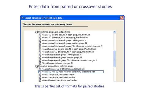 crossover design residual effect 友環公司 comprehensive meta analysis 統計分析軟體統計分析