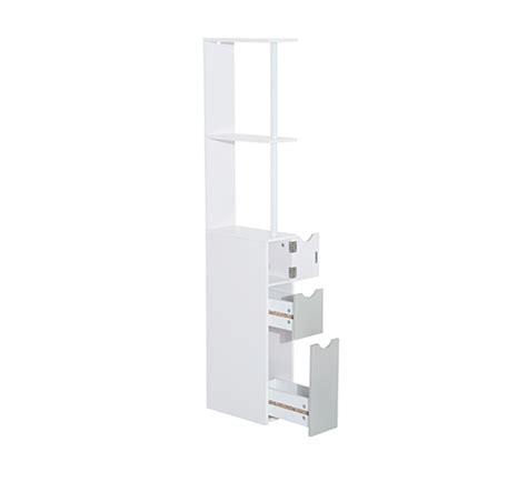 Thin Drawer Unit Homcom Bathroom Storage Cupboard Thin Cabinet Unit Shelf