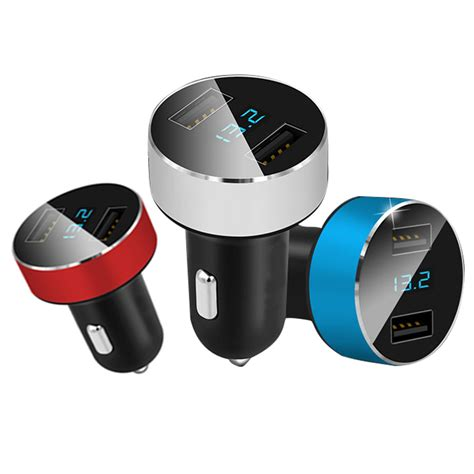 Car Charger Log On Fourgen Lo Sv09 4 Usb 6 6a Fast Ch Limited 5v 3 1a carga r 225 pida dual usb port fast charge car charger