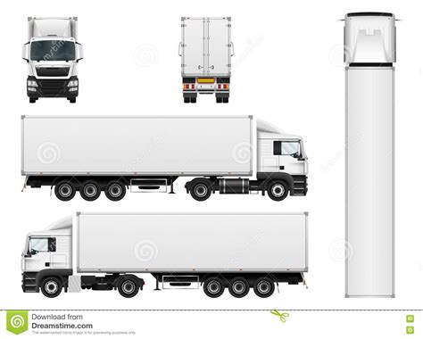 cargo truck trailer vector template stock vector image