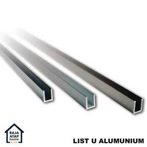 jual list u profil alumunium