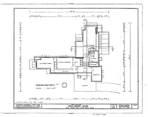 Small Prairie Style House Plans File Pope Leighey House Plan Habs Va 30 Falch 2 Gif