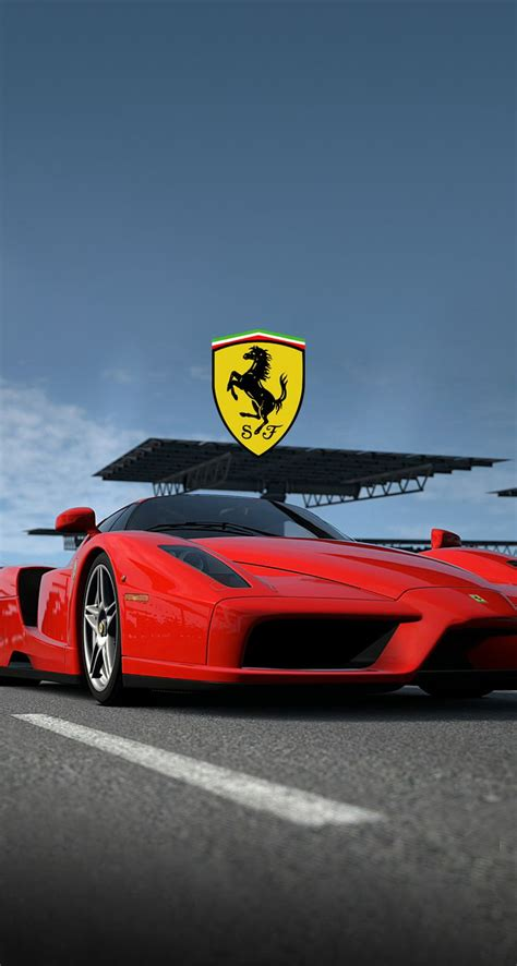 red ferrari  logo wallpaper  mobile phone
