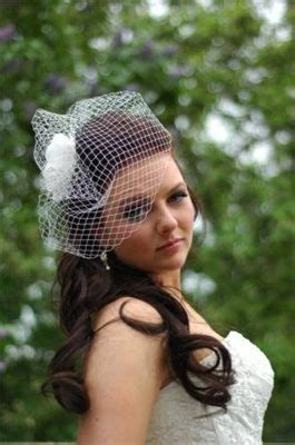 Wedding Hair Half Up With Birdcage Veil by Half Up Wedding Hair With Birdcage Veil Hair For