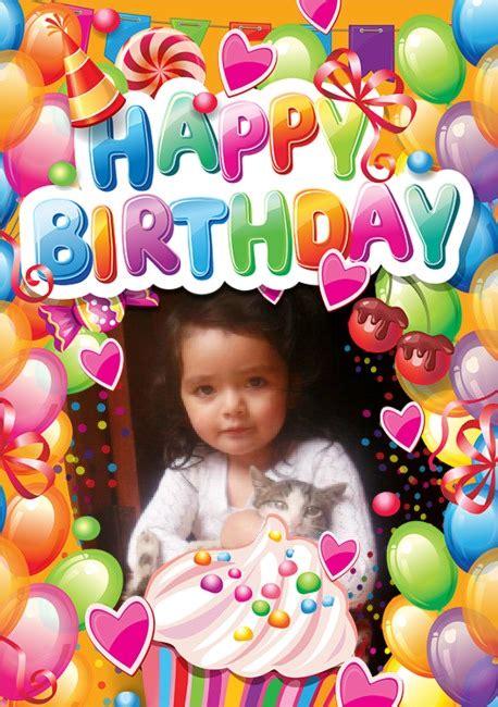 fotomontajes de feliz cumplea os fotomontajes infantiles marcos fotomontaje deseando feliz cumplea 241 os editar fotos online