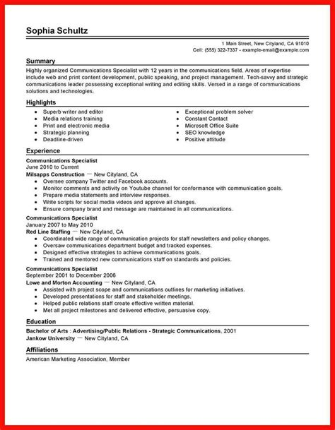 Traditional Resume Sle Apa Exle Traditional Resume Template