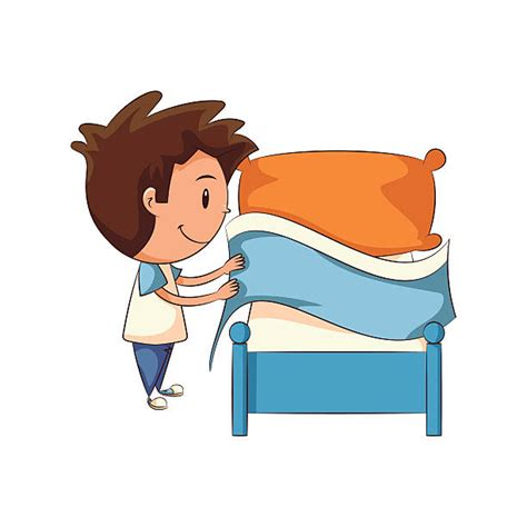 making bed making bed clip art vector images illustrations istock