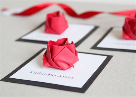 How To Make Paper Invitations - origami wedding invitations origami flower wedding