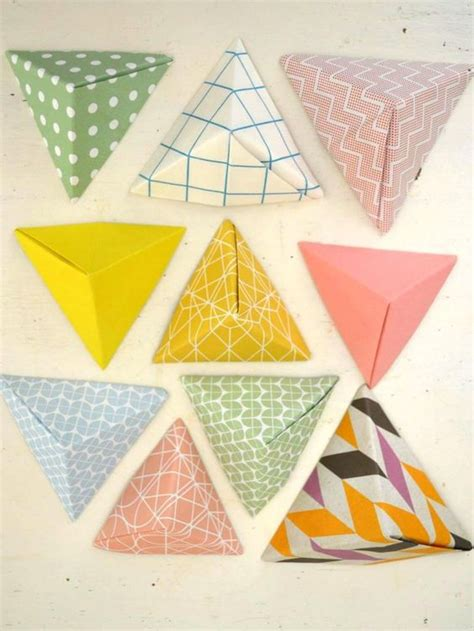 Pyramid Paper Folding - folding paper pyramids with ingrid willenswaard