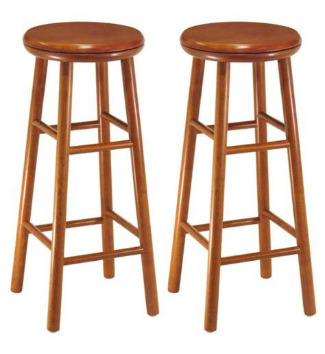 30 Wood Bar Stools by 30 Inch Wooden Swivel Bar Stools Cherry Set Of 2 In