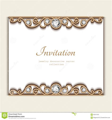 jewellery cards templates vintage jewelry card invitation template stock vector