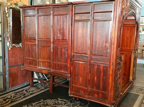 antique canopy bed antique carved canopy bed with alcove for sale at