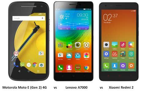 Lenovo A7000 Plus Vs Xiaomi motorola moto e 2 4g vs lenovo a7000 vs xiaomi redmi 2 specs features comparison