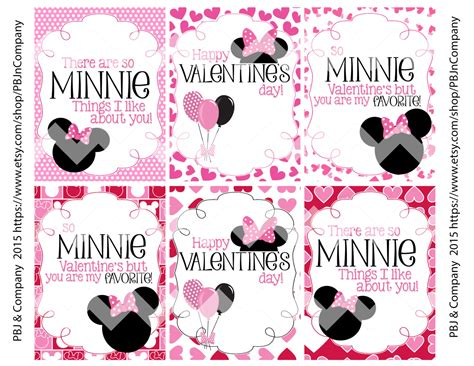 minnie mouse valentines minnie mouse printable s day cards by pbjncompany