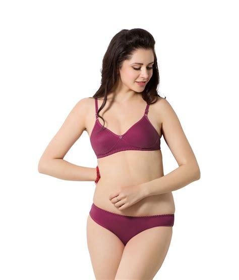 Ediga Bra Set Maroon Ukuran 36 buy simoni maroon cotton bra sets at best prices in india snapdeal