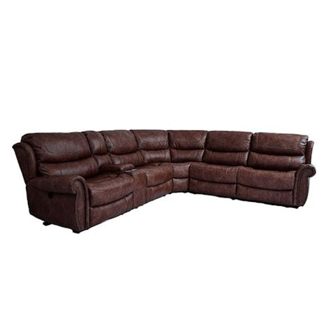 Cheers Sectional Sofa by Cheers Sofa Uwx1012 Tobacco 6 Power Reclining