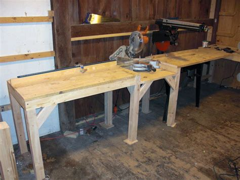 radial arm saw bench multi purpose cutting station with miter saw and radial