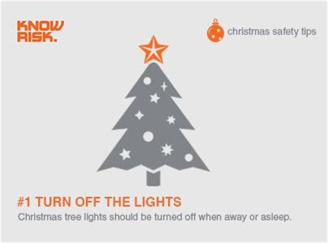Christmas Safety Tip 1 Turn Off The Lights Christmas Tree Lights Safety