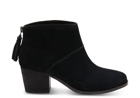 black suede s leila booties toms 174
