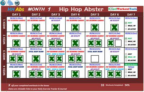 Hip Hop Abs Calendar Hip Hop Abs Schedule New Calendar Template Site