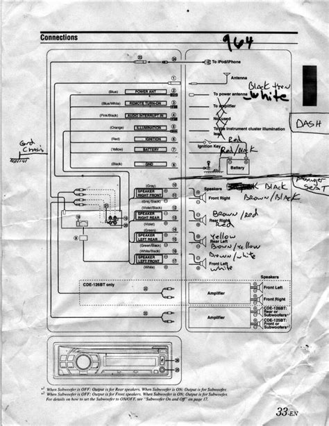 alpine cde 121 wiring diagram alpine free engine image
